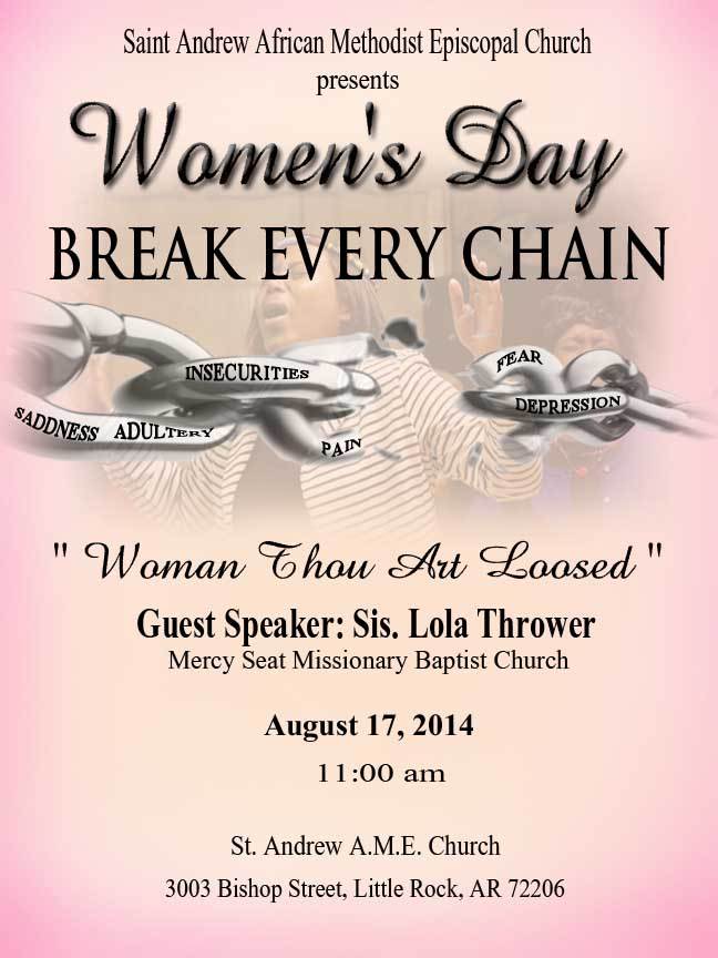 welcome men and women day program at church Know the occasion thank everyone for attending the special event: women's or men's day, baptism, dedication, church conference or convention, youth rally, etc provide a very brief history of the church as it relates to the occasion, or expound on the theme.