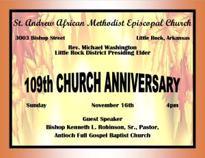 Church Anniversary 2014